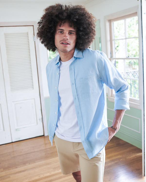 French Linen Shirt (w/ WrinkleGuard)