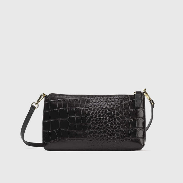 Italian Croco Shoulder Bag