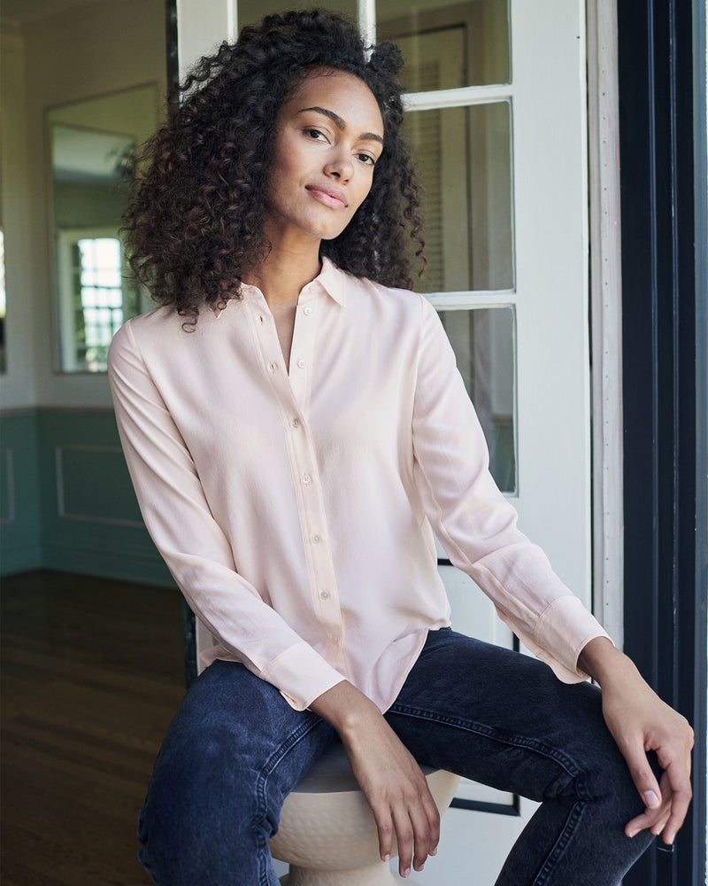 Washable Stretch Silk Blouse