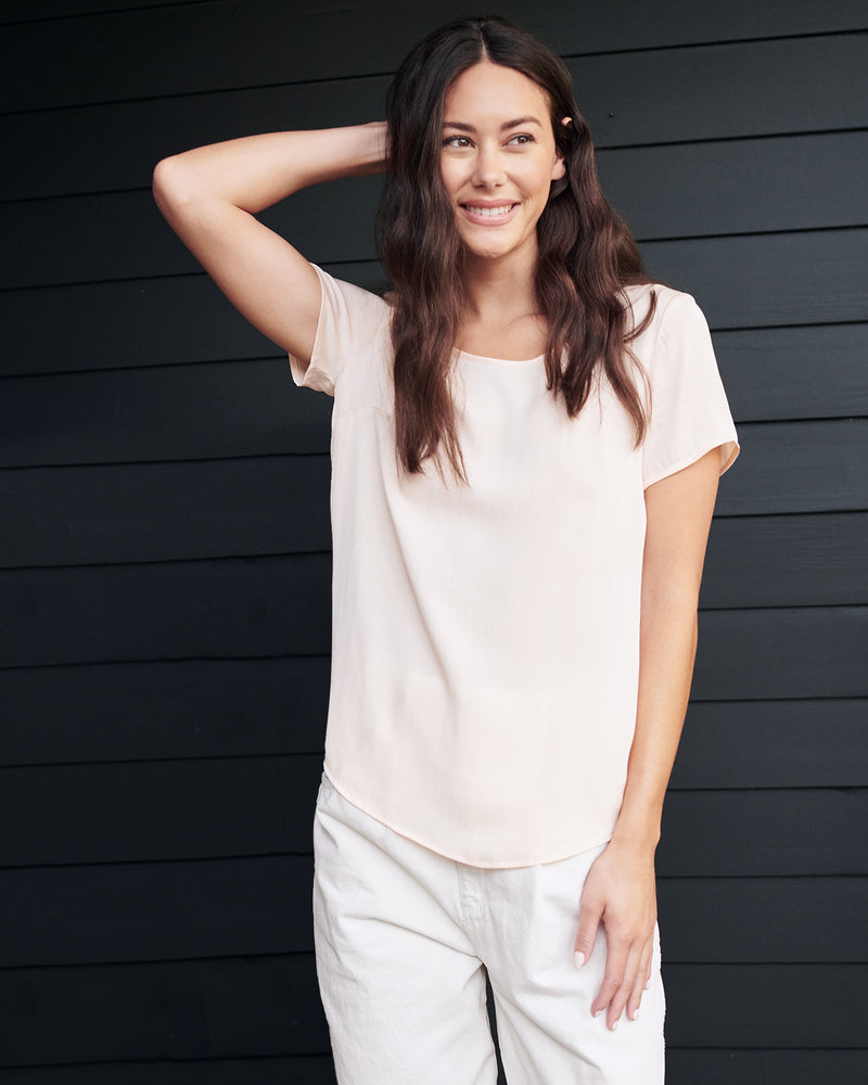 Washable Stretch Silk Tee
