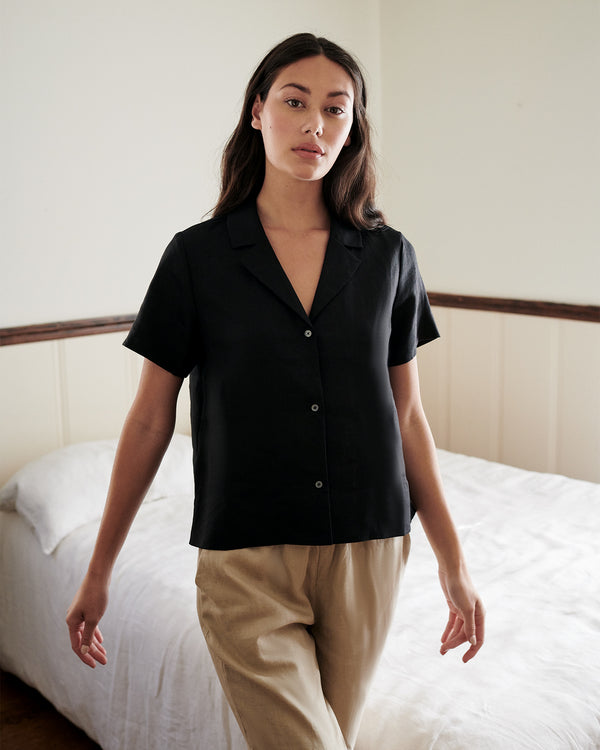 100% Organic Linen Short Sleeve Shirt