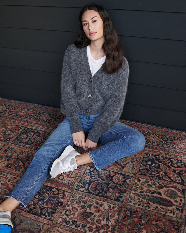 Superfine Alpaca Cropped Cardigan