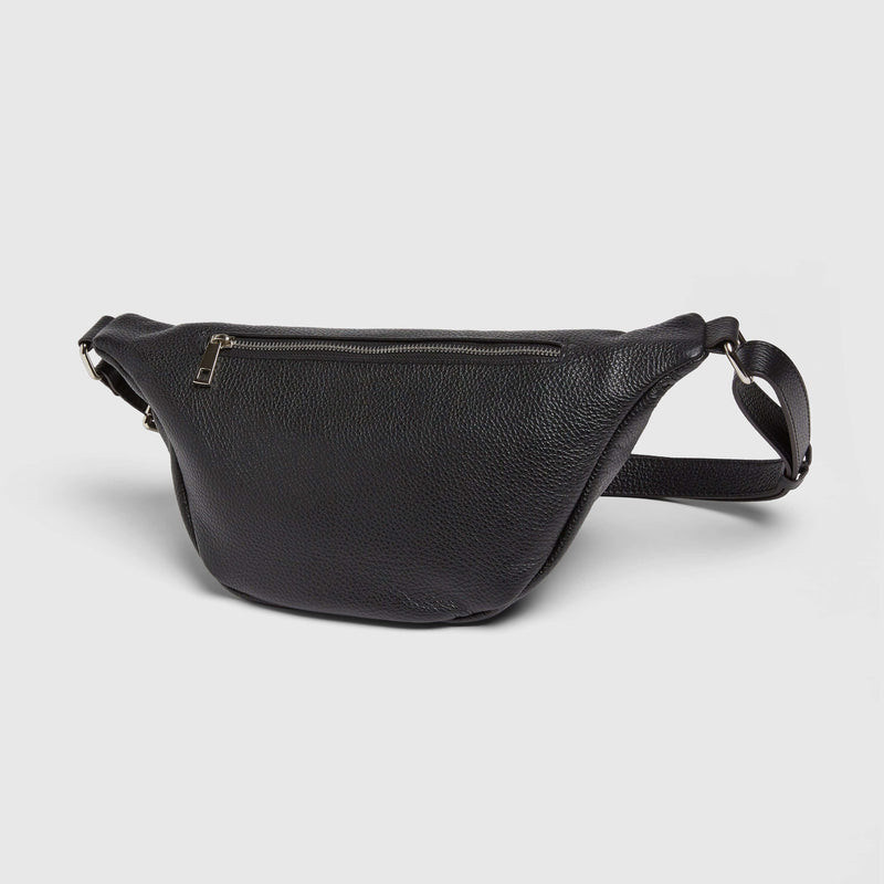 Italian Pebbled Leather Belt Bag
