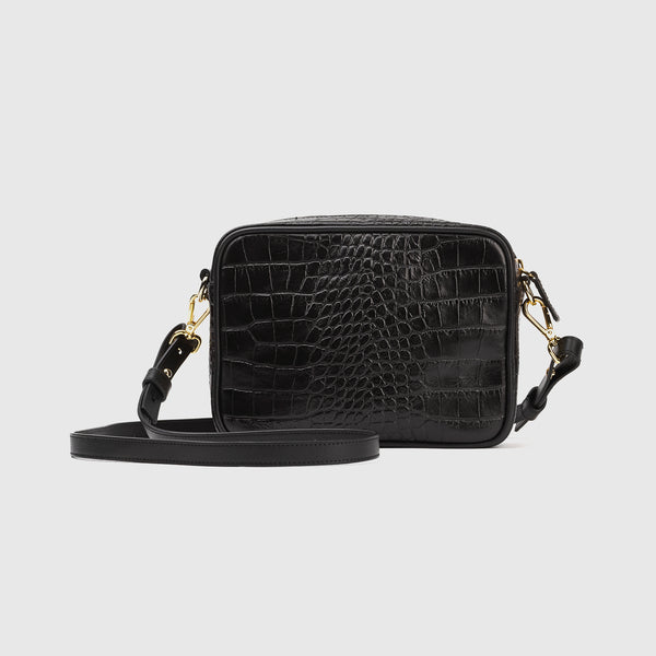 Italian Croco Crossbody Bag