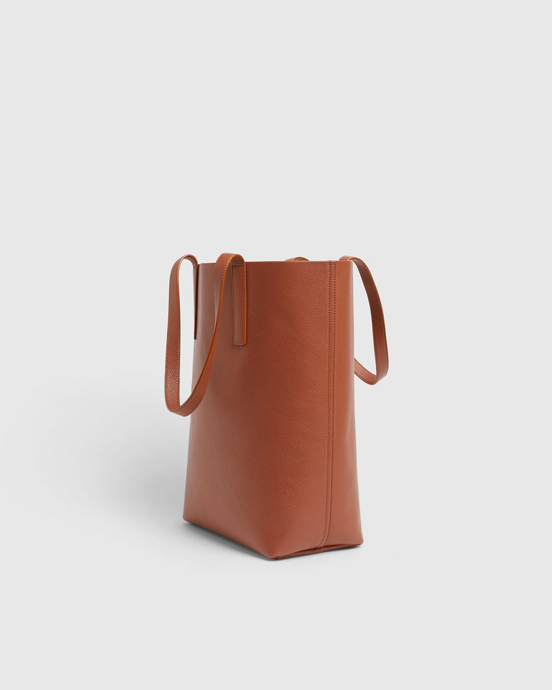 Tall Italian Leather Tote