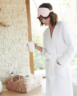 Organic Turkish Waffle Robe and Slipper Set