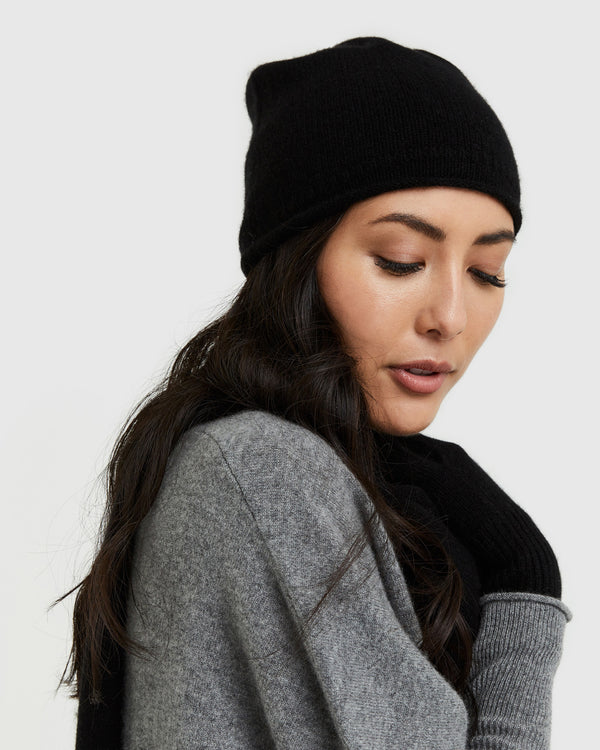 Mongolian Cashmere Slouchy Beanie