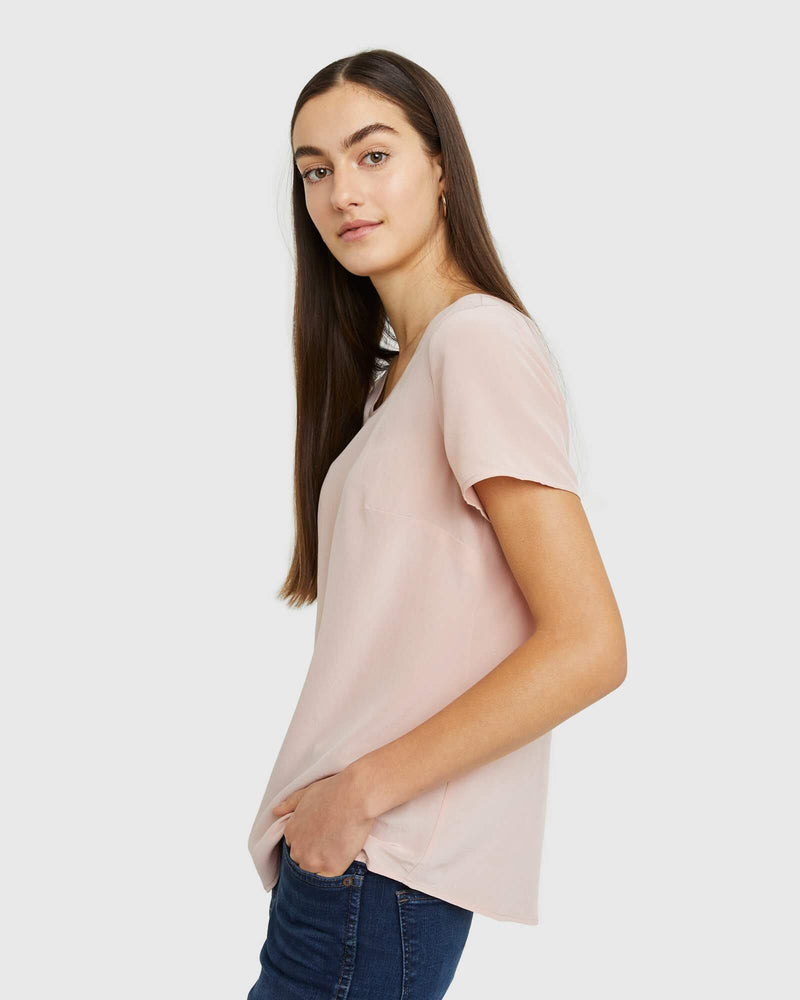 Premium Washable Silk Tee