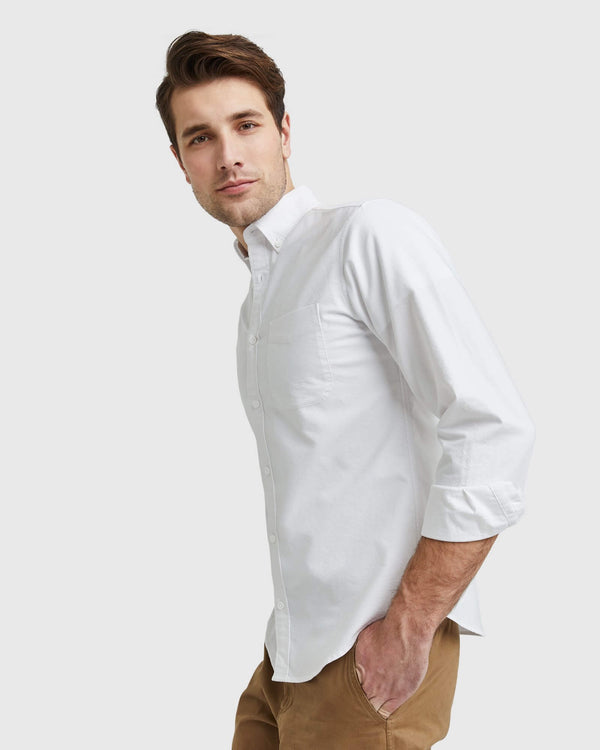 Organic Cotton Stretch Oxford Shirt