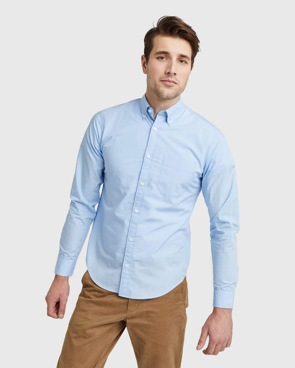 Organic Long Sleeve Stretch Poplin Shirt