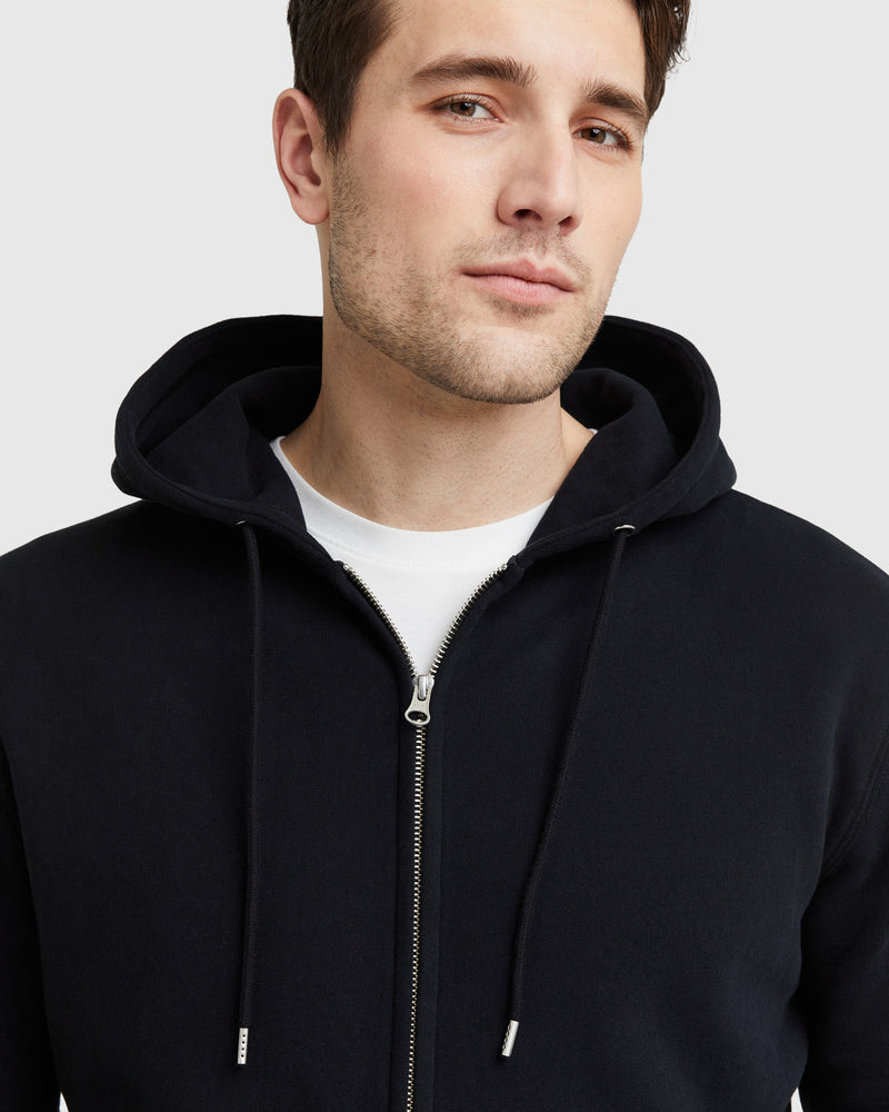 Organic Heavyweight Fleece Full-Zip Hoodie