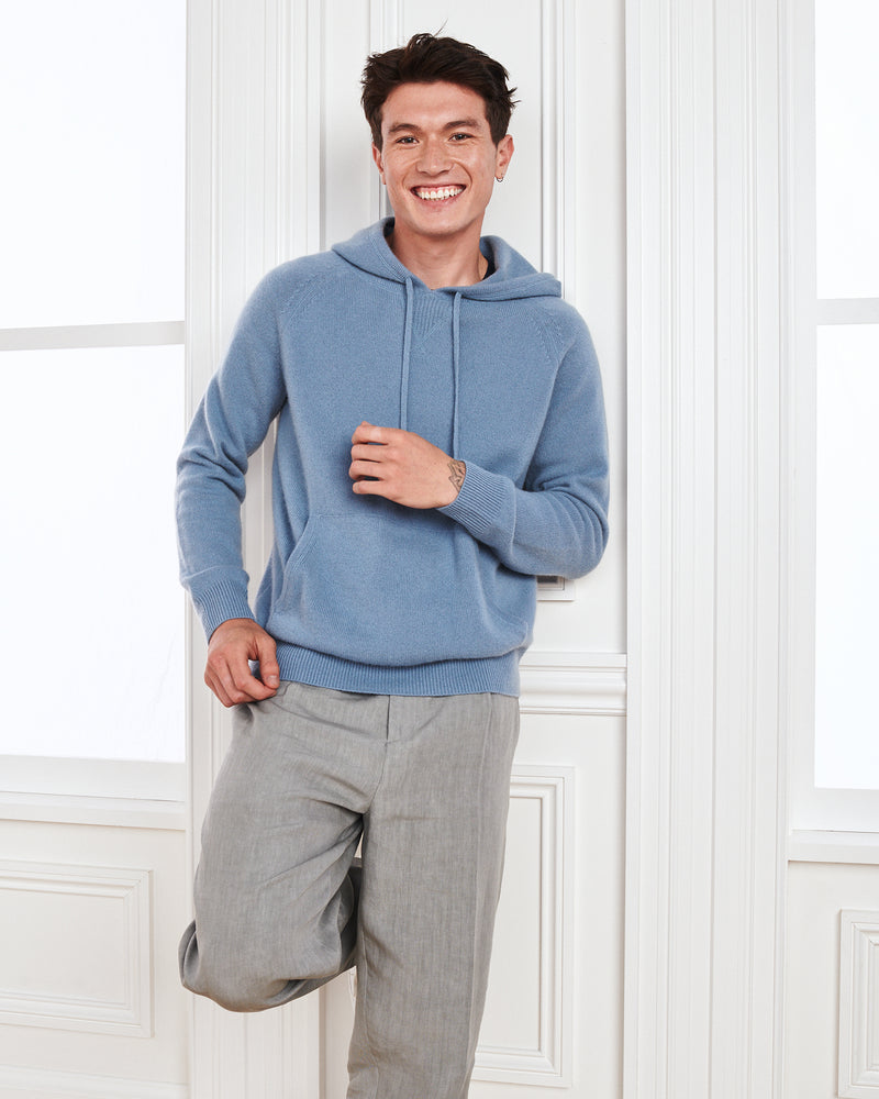 Mongolian Cashmere Pullover Hoodie