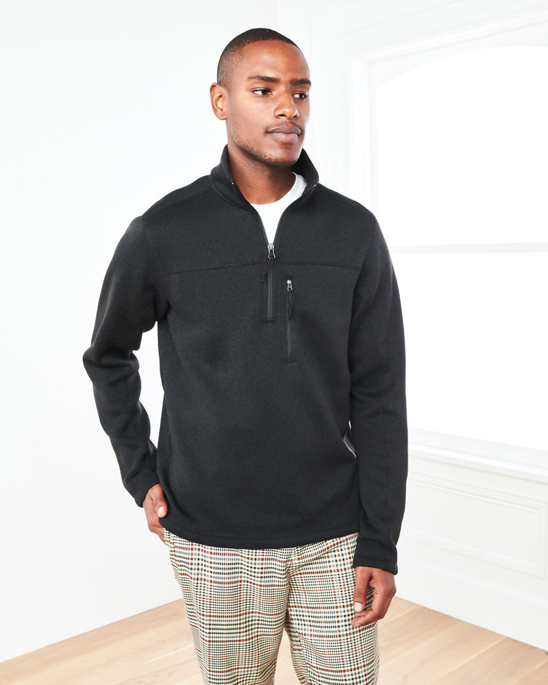 Recycled Sweater Fleece Pullover Jacket