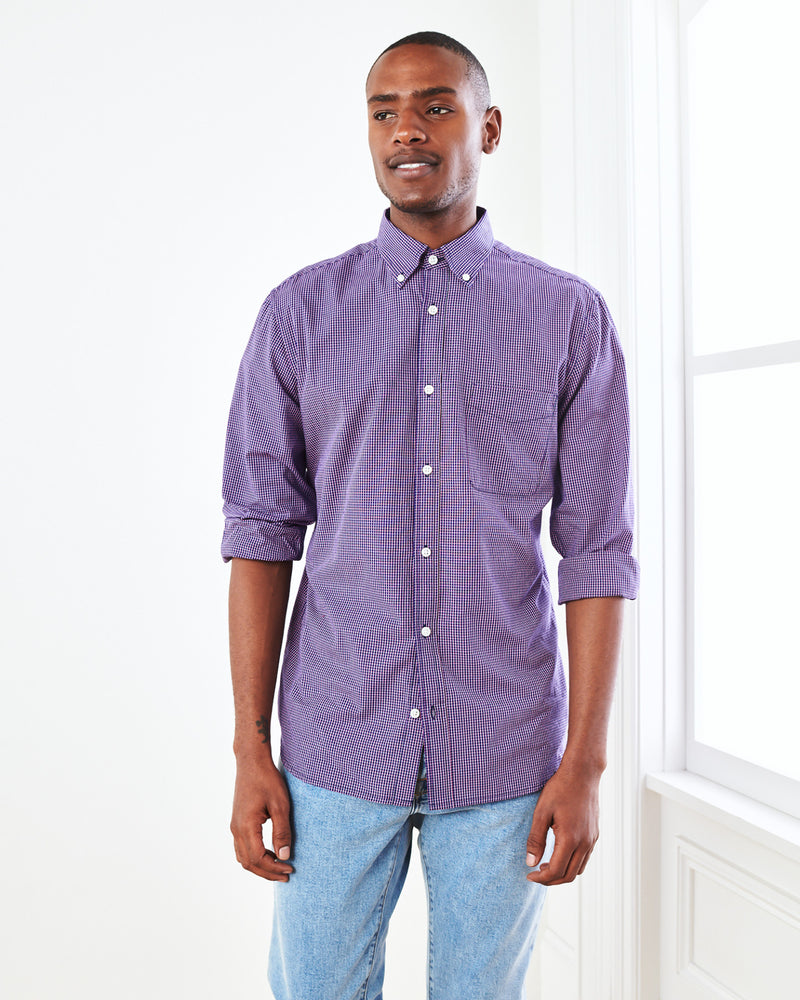 Carbon Wash Micro Check Shirt