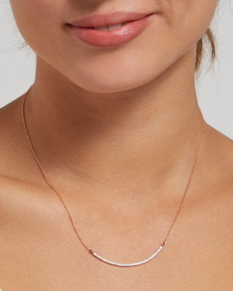 Arched Diamond Necklace