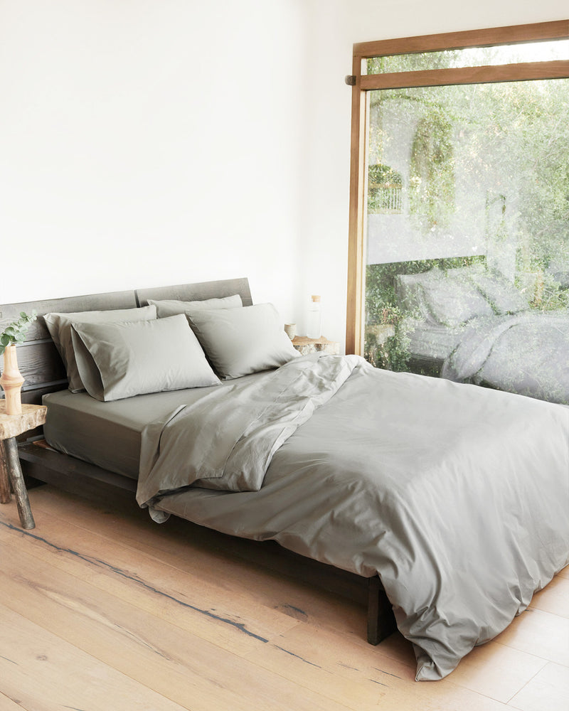 Organic Percale Luxe Duvet Cover Set