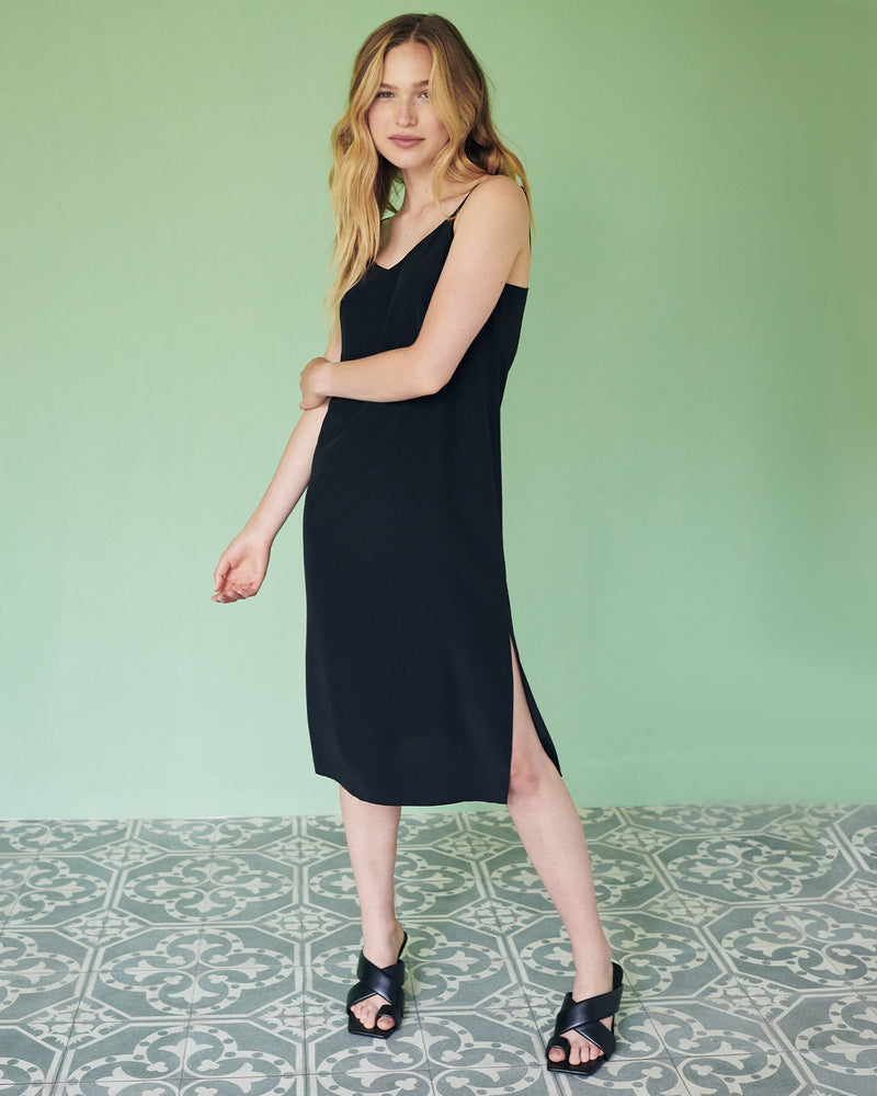 Washable Stretch Silk Slip Dress
