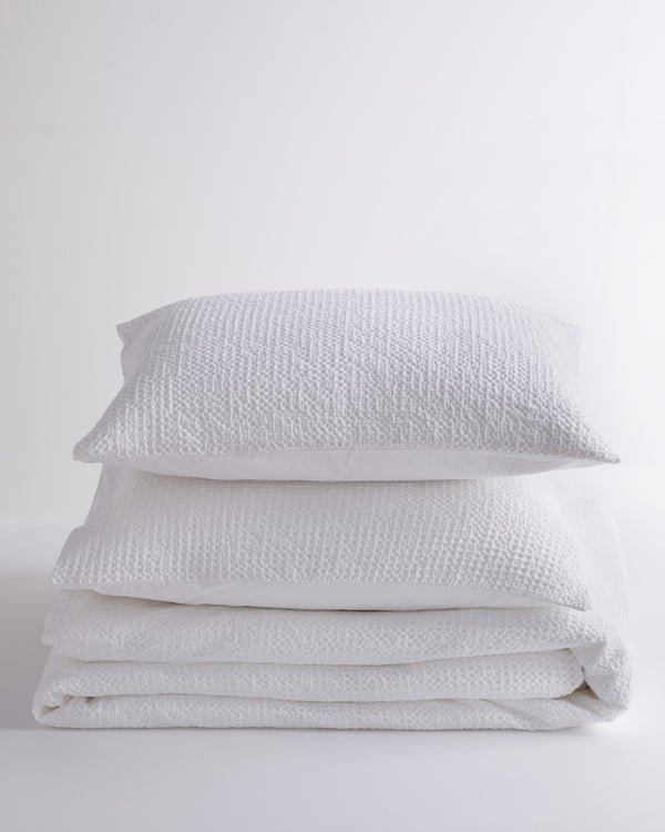 Organic Luxe Waffle Duvet Cover Set