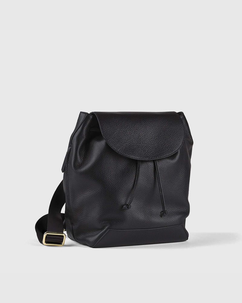 Italian Pebbled Leather Backpack