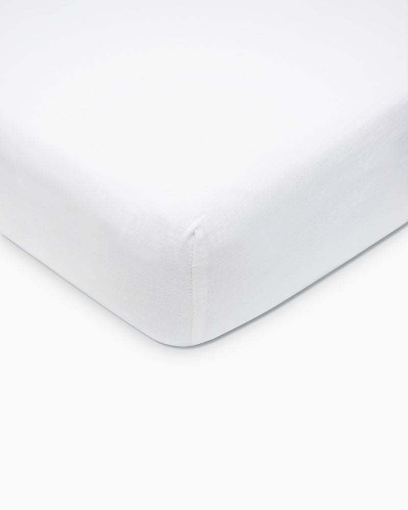 Belgian Linen Fitted Crib Sheet Set