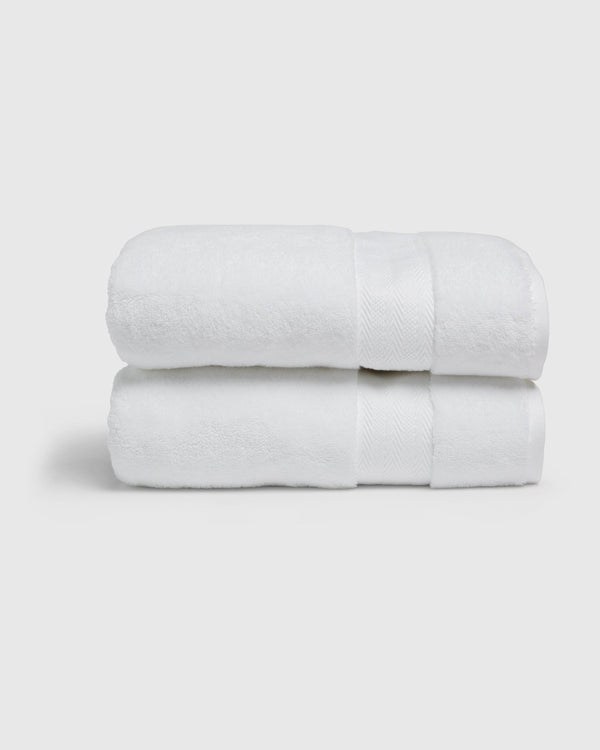 Organic Luxe Turkish Bath Towels (Set of 2)