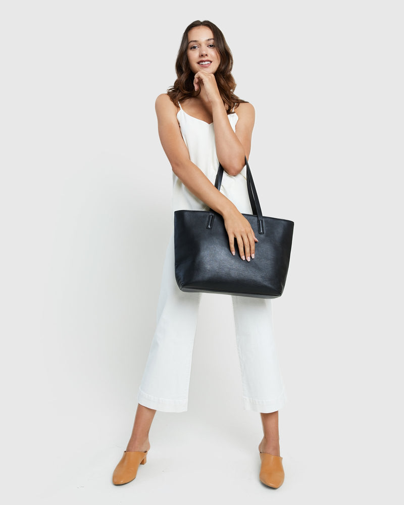 Classic Italian Leather Tote