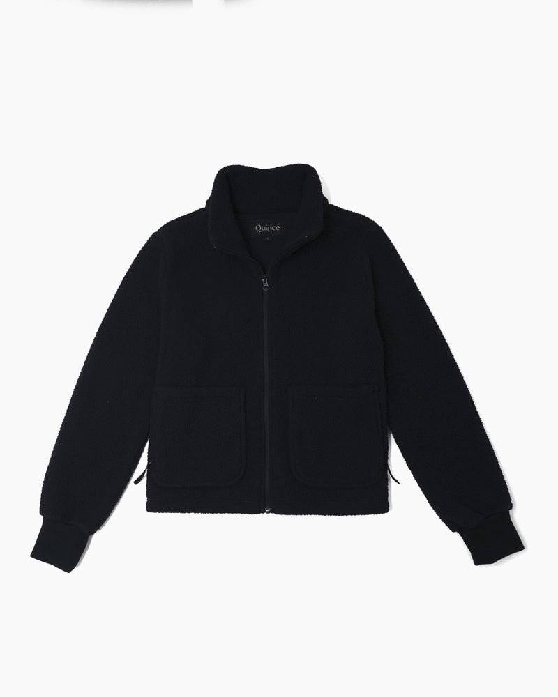 Recycled Sherpa Zip Jacket