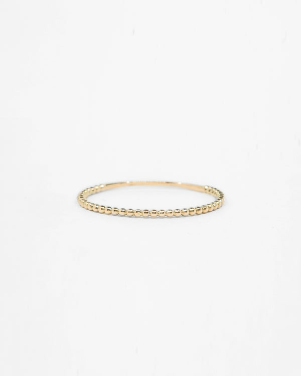 14k Gold Beaded Ring