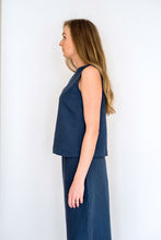Load image into Gallery viewer, The Beatrice Boatneck Linen Top