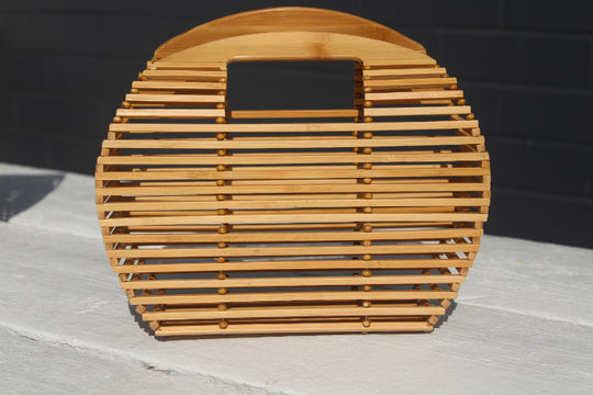 Flat Bottom Bamboo Bag