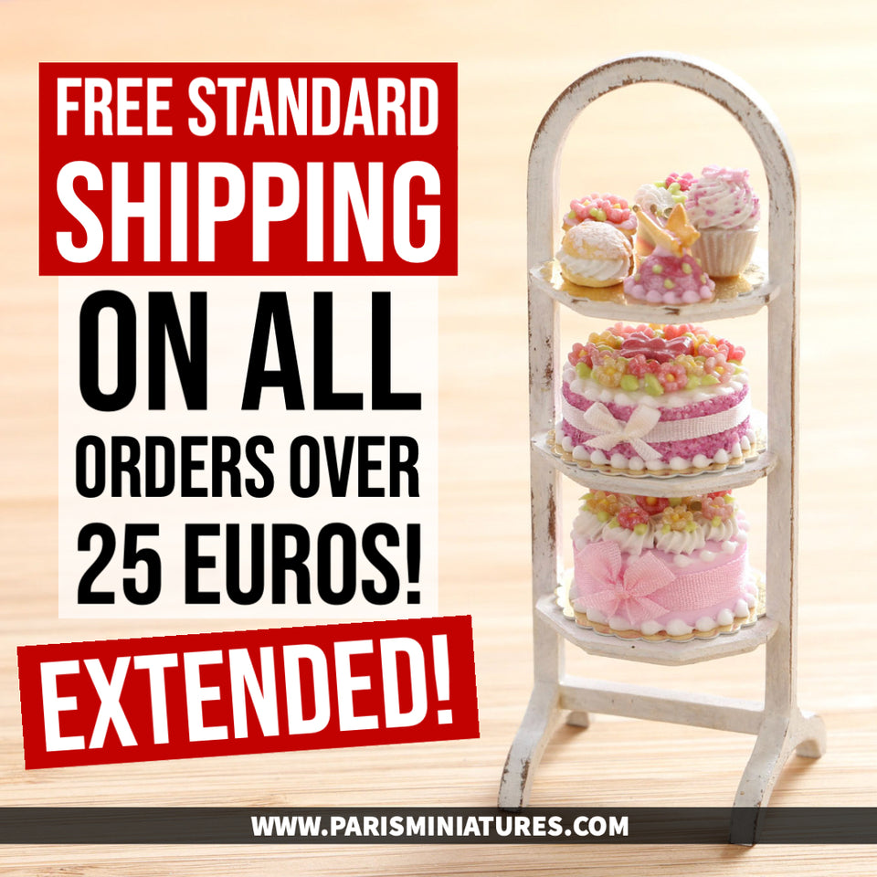 We have extended our Free shipping offer at Paris Miniatures