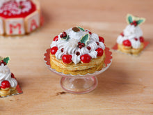 Load image into Gallery viewer, Christmas St Honoré French Pastry - 12th Scale Miniature Food