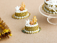 Load image into Gallery viewer, Cookie Man Golden Christmas Pastry - Miniature Food