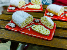 Load image into Gallery viewer, Christmas Stollen on Cutting Board - 12th Scale Miniature Food