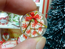 Load image into Gallery viewer, Gift Box of Iced 'Christmas Present' Cookies - 12th Scale Miniature Food