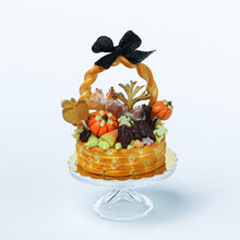 Load image into Gallery viewer, Autumn Basket Cake Filled with Awesome Treats - Miniature Food