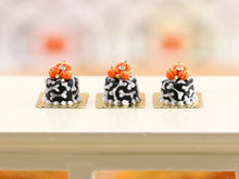 Load image into Gallery viewer, Bone and Pumpkin Genoise Cake Individual Pastry for Autumn Halloween - Miniature Food