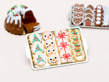 Load image into Gallery viewer, Christmas Cookies - Holly, Snowman, Present, Wreath - Miniature Food