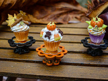 Load image into Gallery viewer, Autumn Showstopper Cupcake - Black Frog and Candy Corn