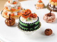 Load image into Gallery viewer, Miniature Jack O'Lantern Halloween Cake - 12th Scale Dollhouse Food