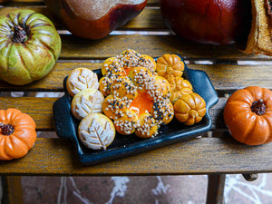 Autumn / Fall Bread Display - 12th Scale Miniature Food