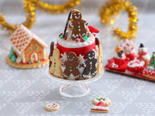 Load image into Gallery viewer, Gingerbread Carousel Christmas Celebration Cake Centerpiece - Miniature Food