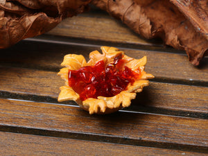 "Wrapped Candy in ""Autumn Leaf"" Basket - Miniature Food in 12th Scale"