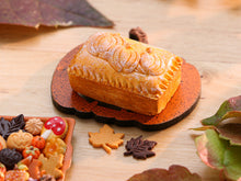 Load image into Gallery viewer, Farmhouse Baked Closed Pie with Pumpkin Decoration for Autumn / Halloween - Miniature Food