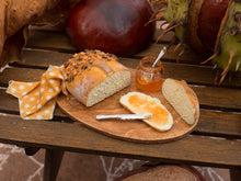 Load image into Gallery viewer, Goûter d'Automne - Autumn Bread with Jelly - 12th Scale Miniature Food