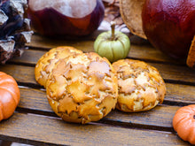 Load image into Gallery viewer, Autumn Bread Loaf with Autumn Leaf Decoration - 12th Scale Miniature Food