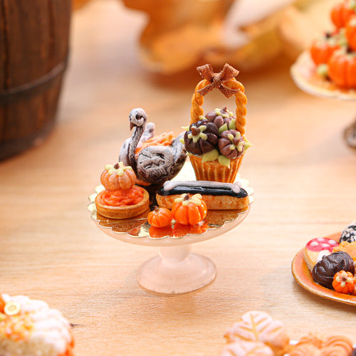 Autumn-Themed French Pastries - 12th Scale Miniature Food