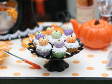 Load image into Gallery viewer, Pumpkin Cupcakes on Stand for Autumn / Fall - Miniature Food