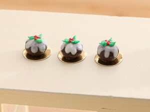 Baby Christmas Pudding - Individual Pastry - 12th Scale Miniature Food