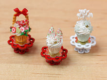 Load image into Gallery viewer, Showstopper Christmas Cupcake Snowy Trees & Snowflake E - 12th Scale Miniature Food